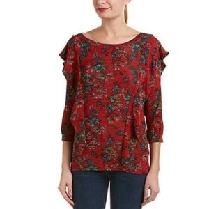 NWT Free People Flower Blouse